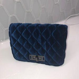 Blue velvet small purse